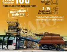 Fabo TURBOMİX 100 CE QUALITY NEW GENERATION MOBILE CONCRETE MIXING PLANT