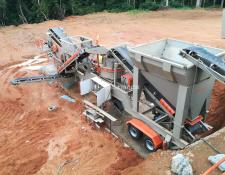 Constmach 60 -80 tph CAPACITY MOBILE  JAW + CONE + VSI  CRUSHER